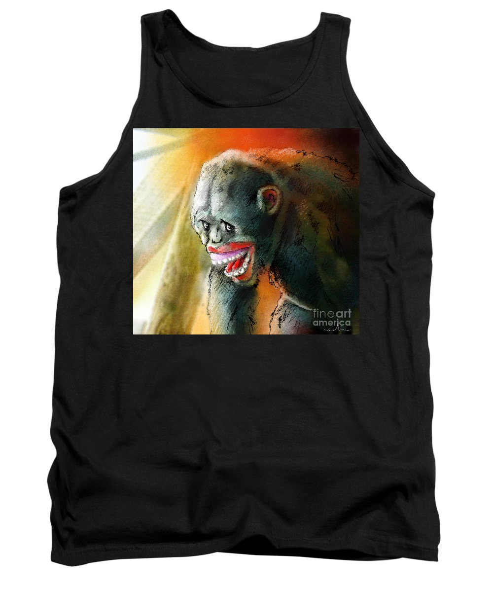 Fun Tank Top featuring the painting You Crack Me Up by Miki De Goodaboom