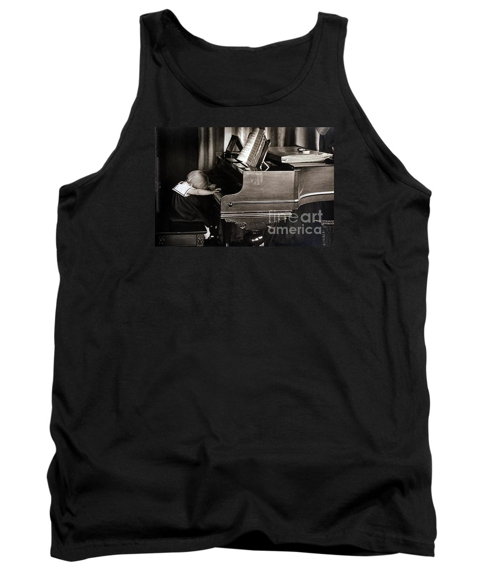 Piano Tank Top featuring the photograph Young Beethoven by Michael Ziegler