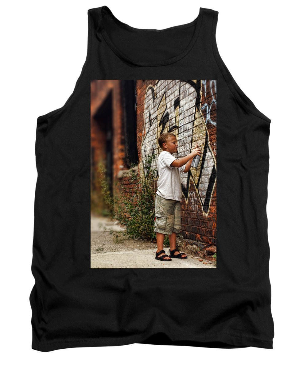 Young Tank Top featuring the photograph Young Vandal by Gordon Dean II