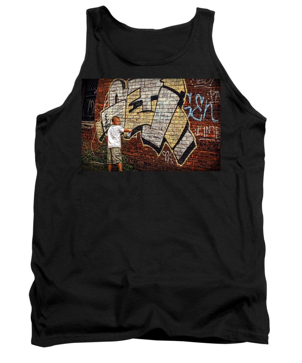 Young Tank Top featuring the photograph Young Vandal Too by Gordon Dean II