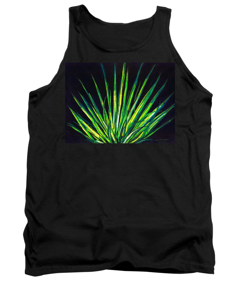 Yucca Tank Top featuring the drawing Yucca by Melvin Moon