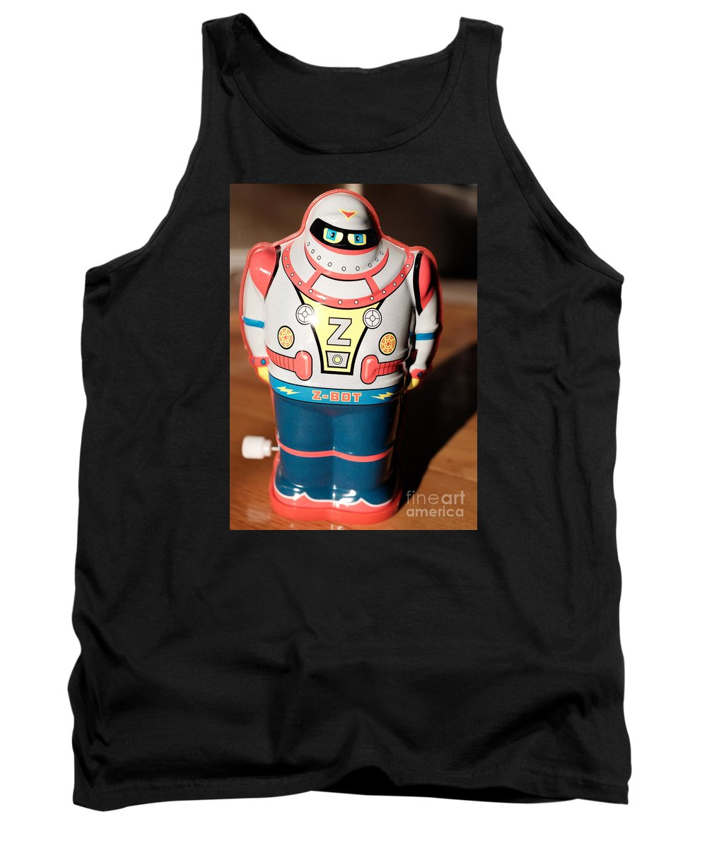 Robot Tank Top featuring the photograph Z-bot Robot Toy by Edward Fielding