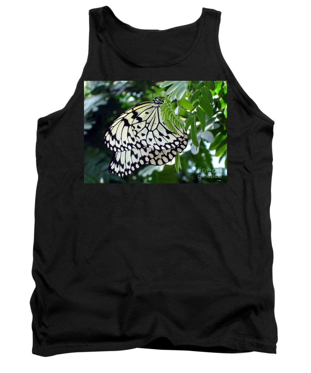 Butterfly Tank Top featuring the photograph Zebra In Disguise by Shelley Jones