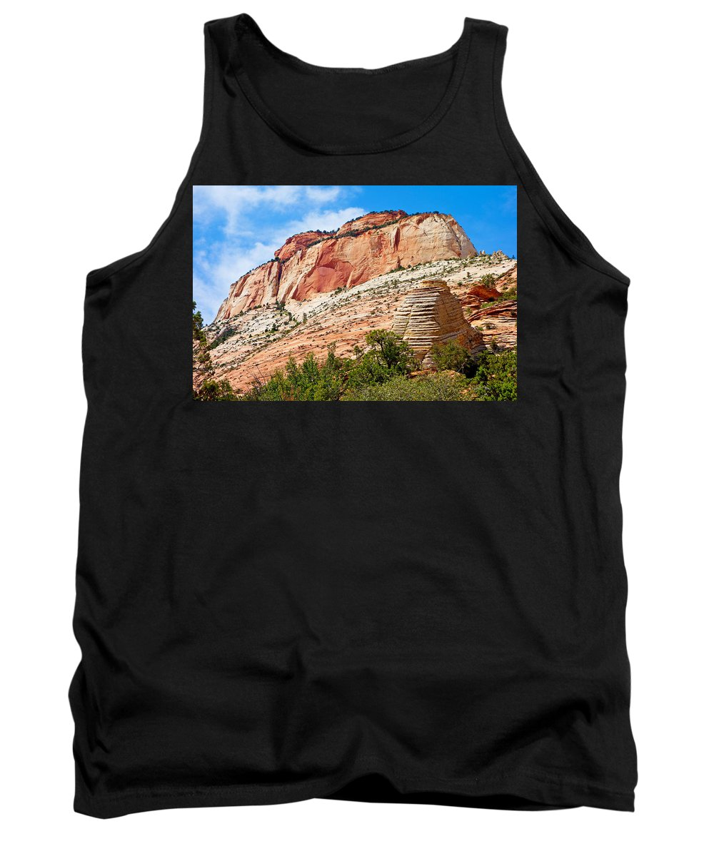 Zion Tank Top featuring the photograph Zion Hike 1 View 2 by Robert Meyers-Lussier