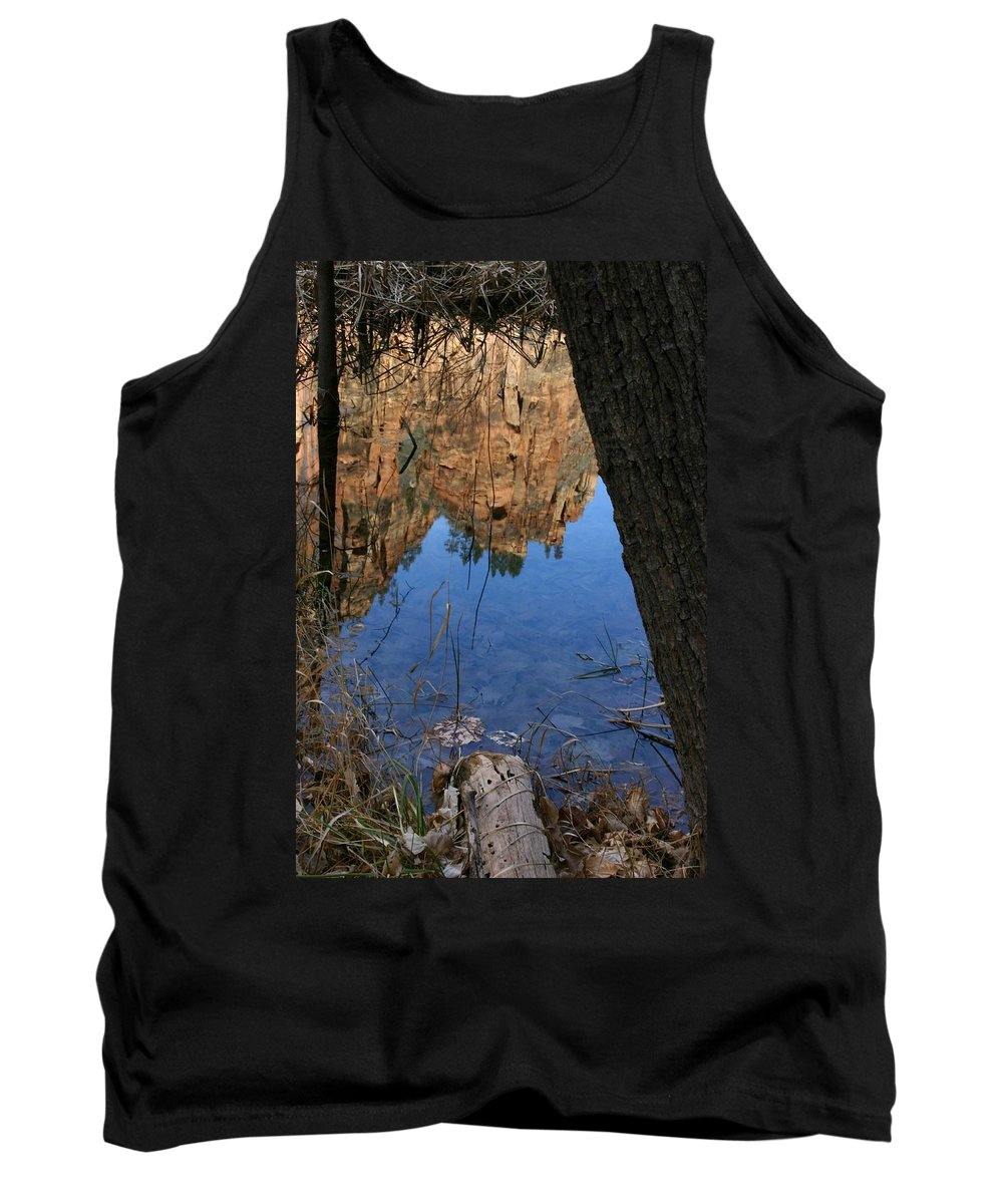 Zion Tank Top featuring the photograph Zion Reflections by Nelson Strong