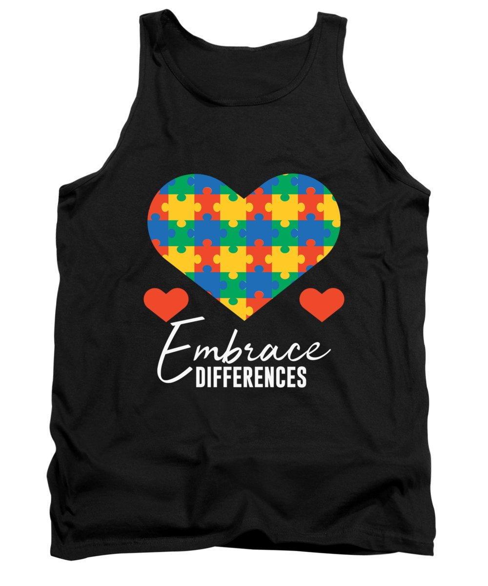Big-foot Tank Top featuring the digital art 1 Embrace Differences by Andrea Robertson