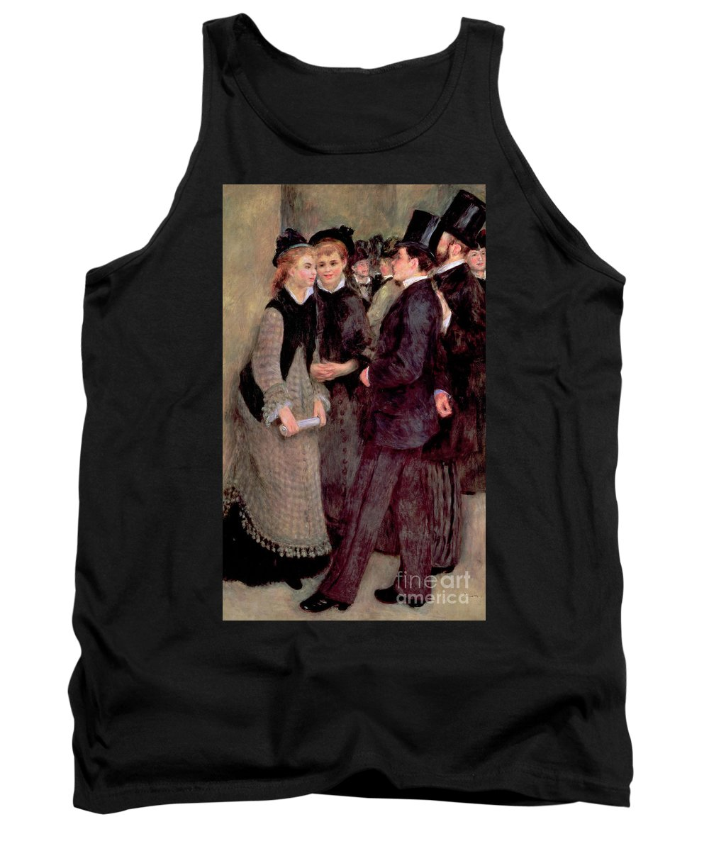 Renoir Tank Top featuring the painting Leaving The Conservatory by Pierre Auguste Renoir