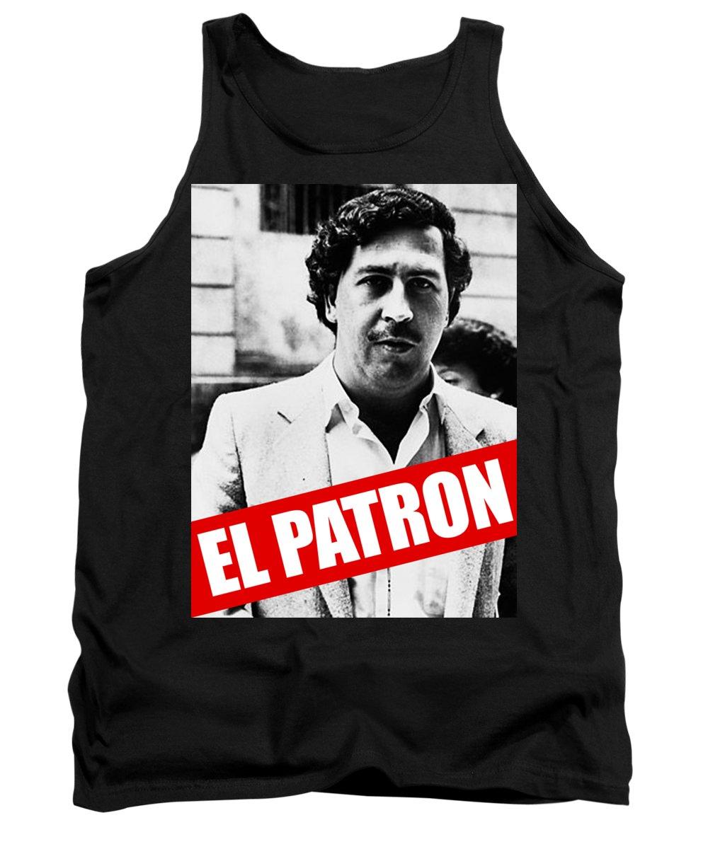 Drugplane Tank Top featuring the digital art Pablo Escobar by Mimi Kiki