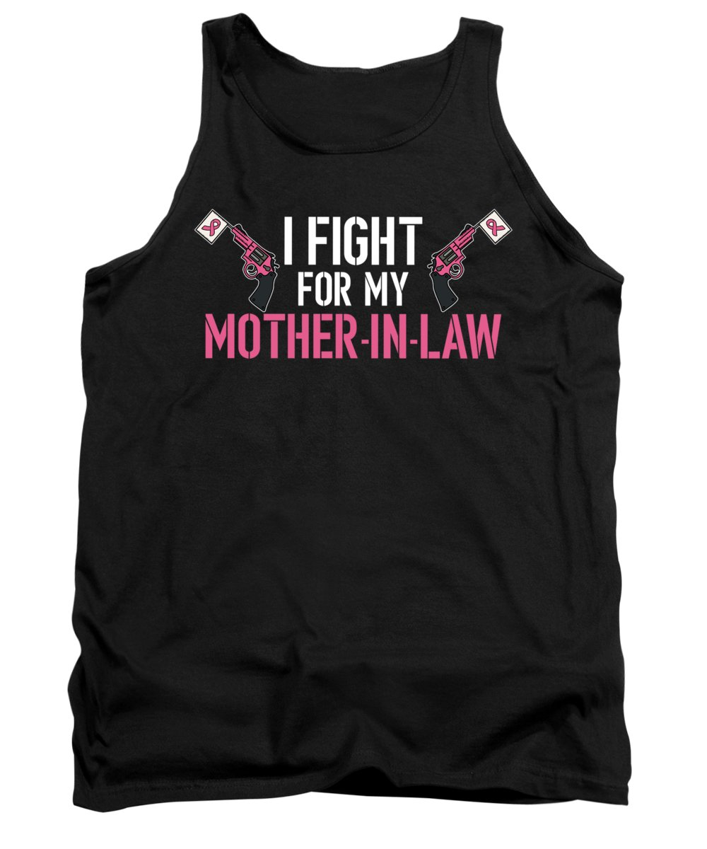 Breast-cancer Tank Top featuring the digital art Breast Cancer Awareness Art For Warrior Women Dark by Nikita Goel