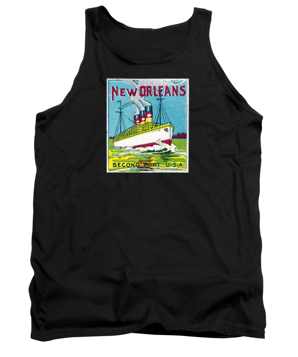 New Orleans Tank Top featuring the painting 1920's New Orleans by Historic Image