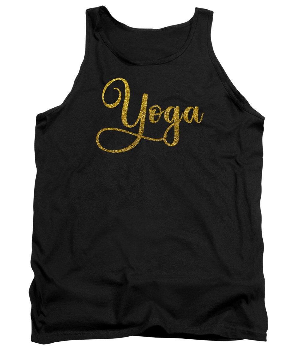 Yoga Tank Top featuring the digital art Yoga Shirt Yoga Meditation Gift Tee by Haselshirt