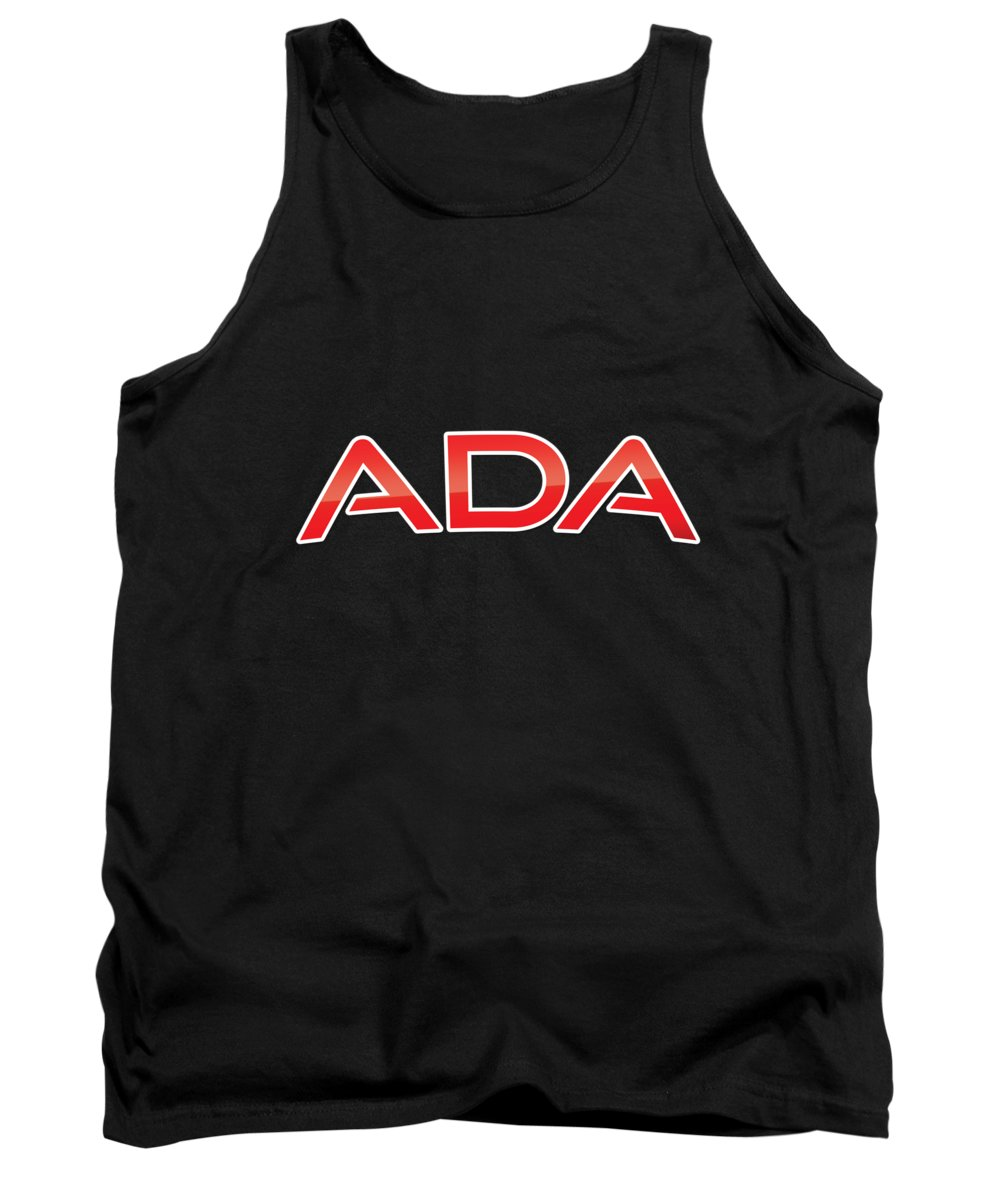 Ada Tank Top featuring the digital art Ada by TintoDesigns