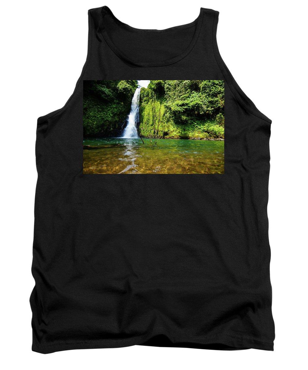 Landscape Tank Top featuring the photograph Bioko Waterfall by Mogli Maureal