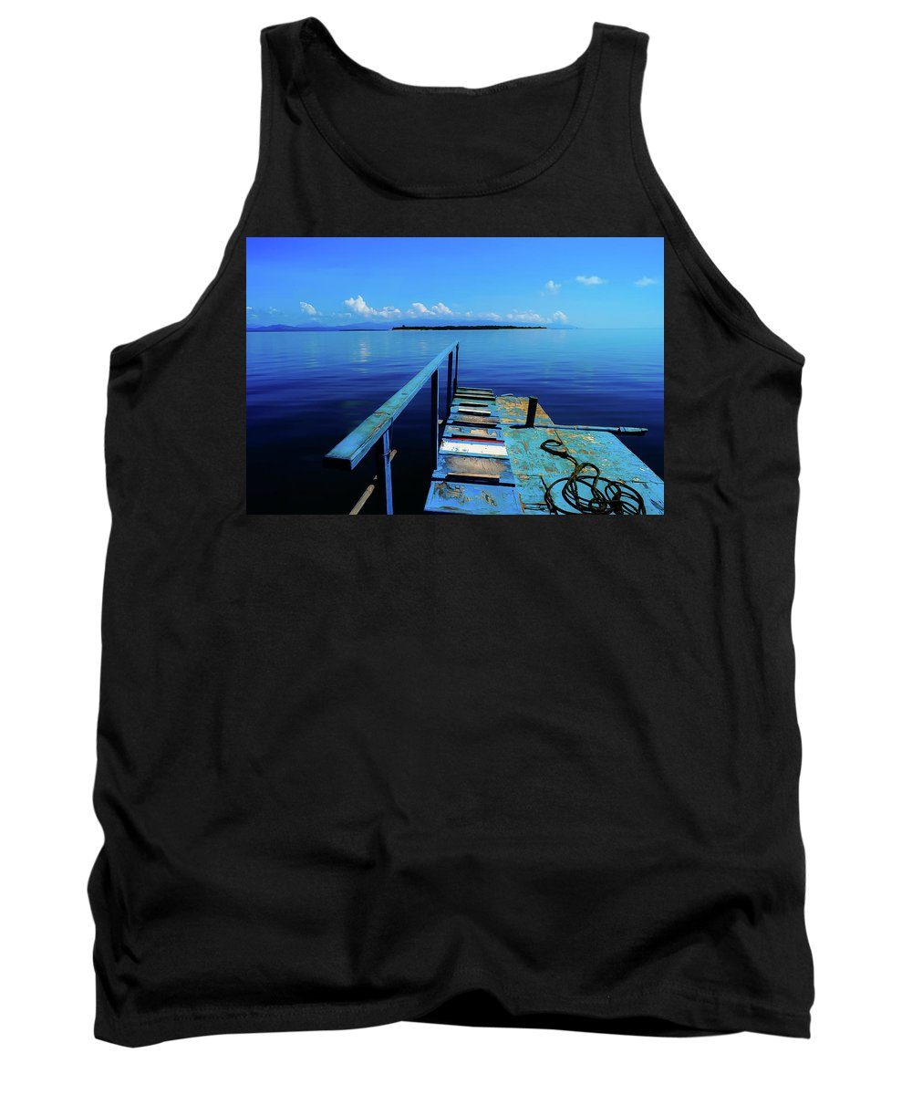 Landscape Tank Top featuring the photograph Blue World by Mogli Maureal