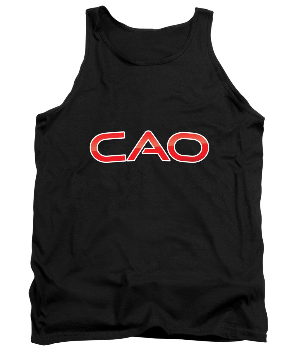Cao Tank Top featuring the digital art Cao by TintoDesigns