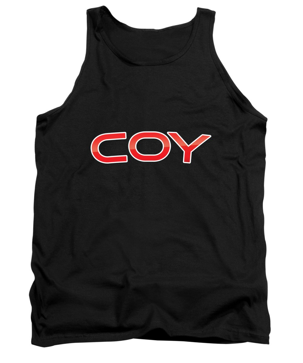 Coy Tank Top featuring the digital art Coy by TintoDesigns