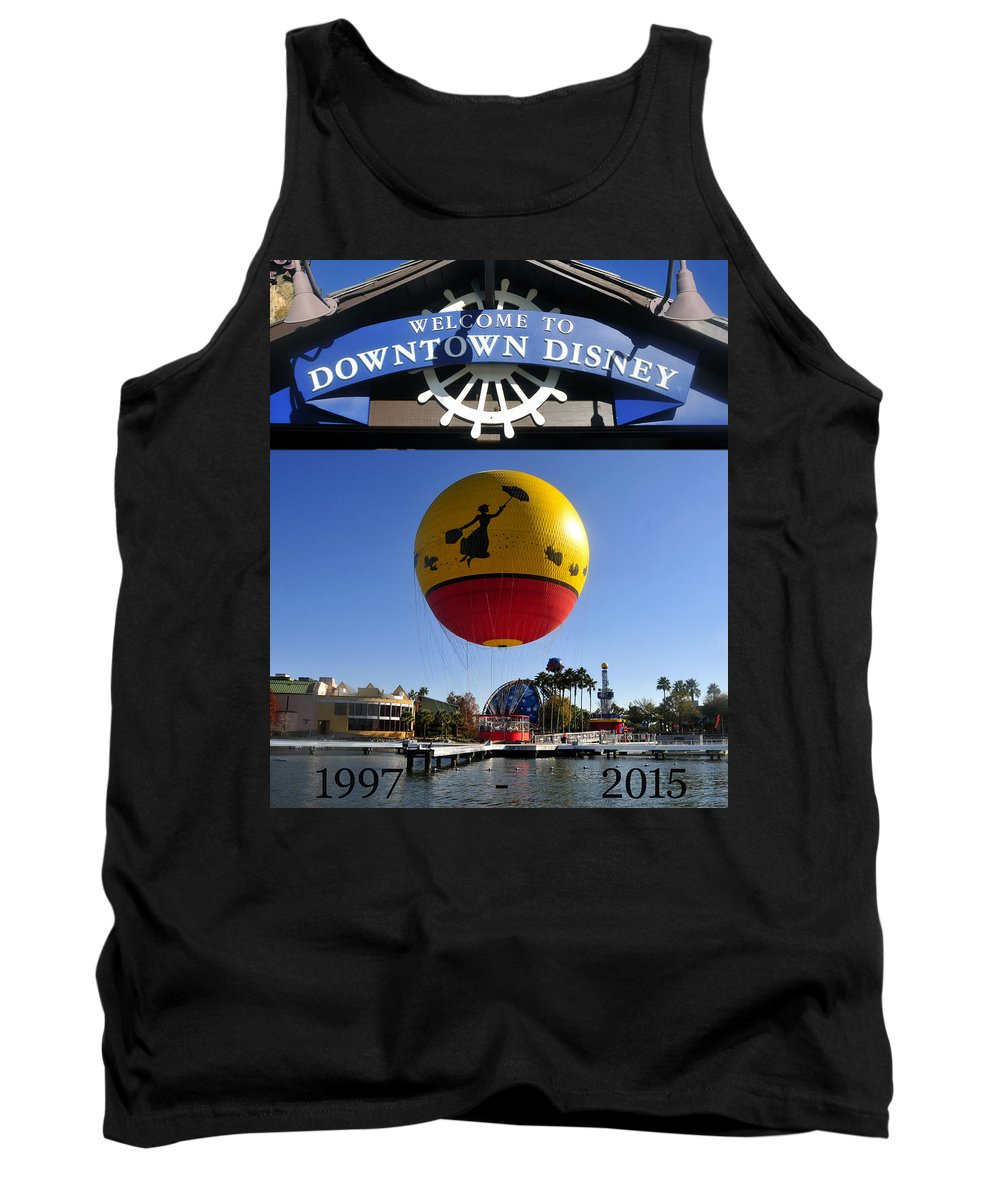 Downtown Disney Tank Top featuring the photograph Downtown Disney Tribute Poster 2 by David Lee Thompson