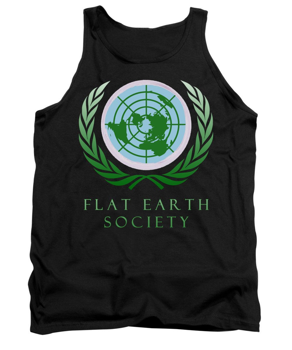 Flat Earth Tank Top featuring the photograph Flat Earth Society by Filip Schpindel