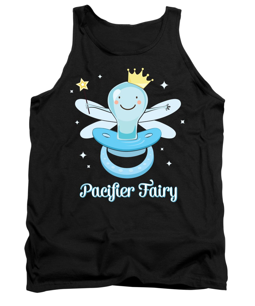 Pacifier Tank Top featuring the digital art Fun Pacifier Fairy Boys To Give Up Pacifiers by Festivalshirt