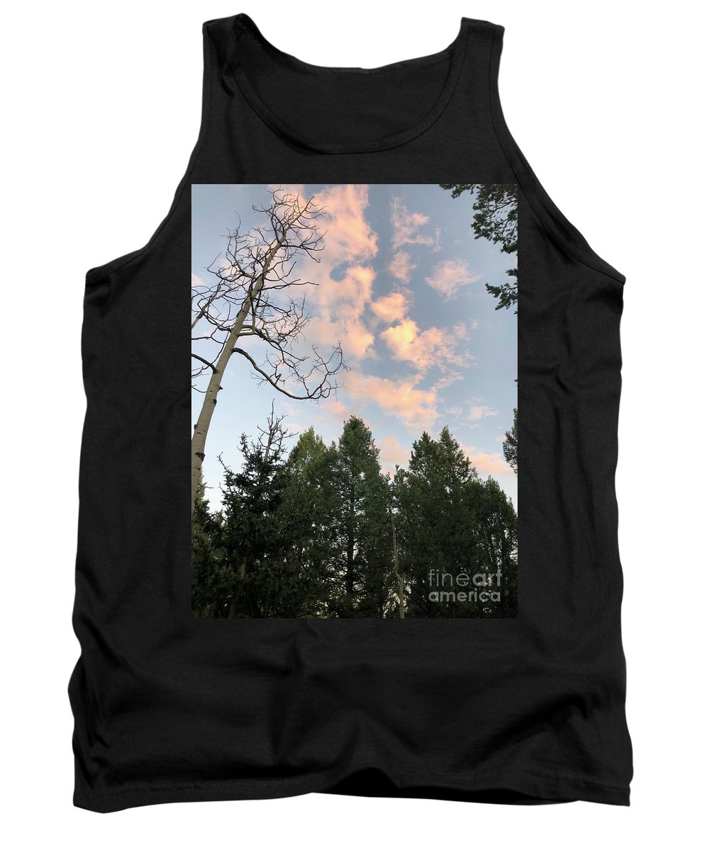 Colorado Tank Top featuring the photograph Glowing Mountain Skies by Nadine Rippelmeyer