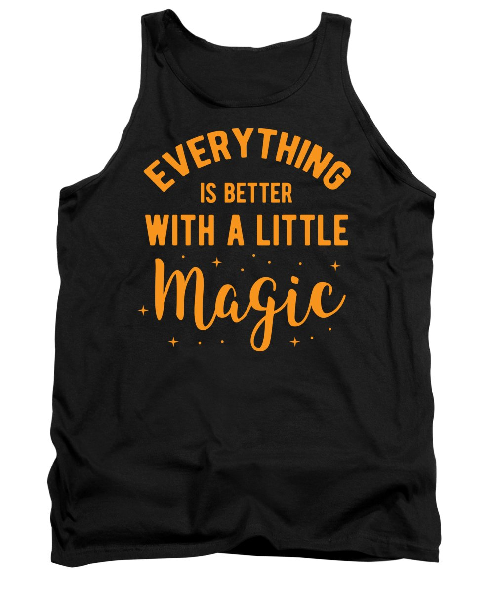Halloween-costume Tank Top featuring the digital art Halloween Shirt Better With Little Magic Gift Tee by Haselshirt