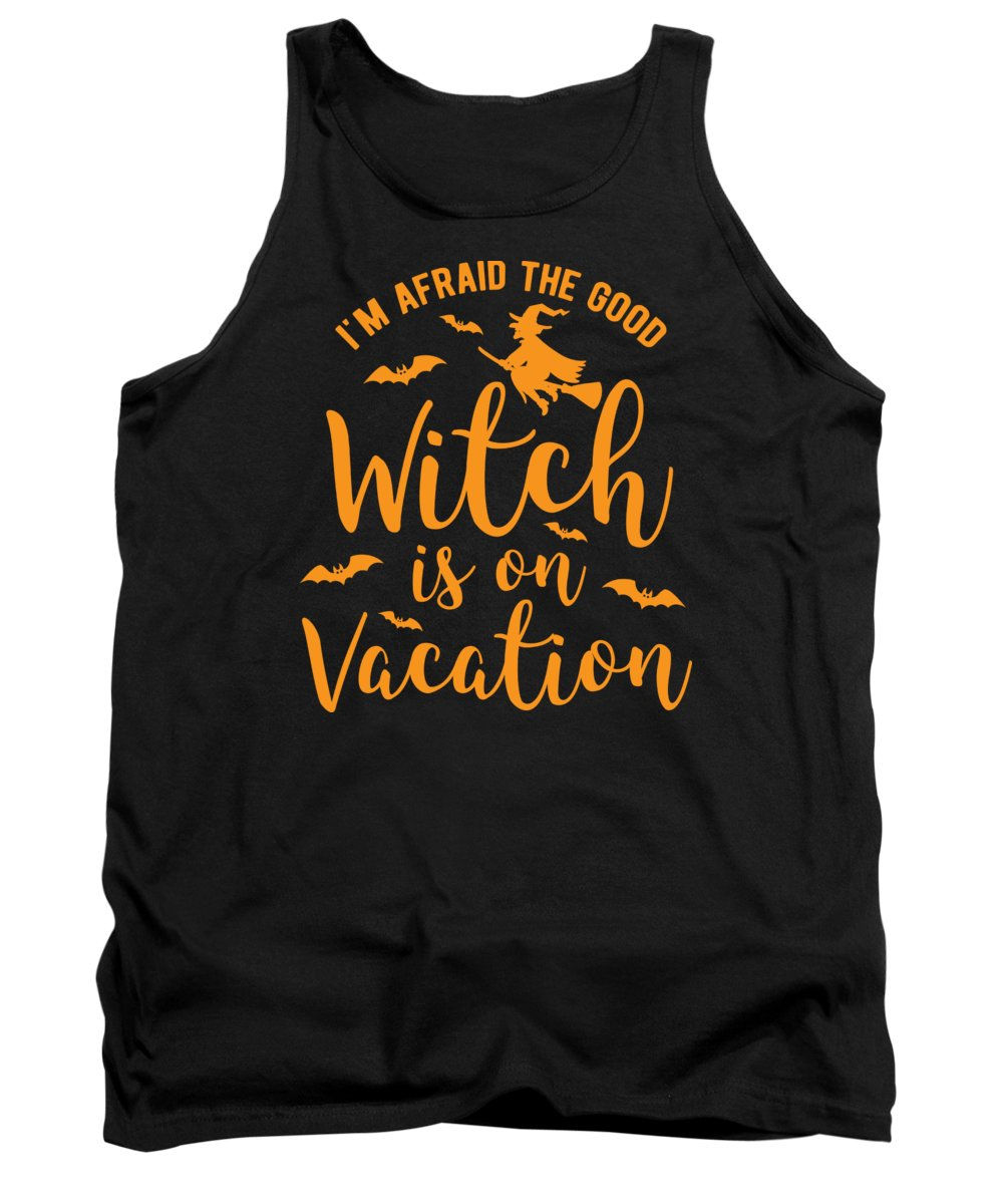 Halloween-costume Tank Top featuring the digital art Halloween Shirt Good Witch On Vacation Gift Tee by Haselshirt