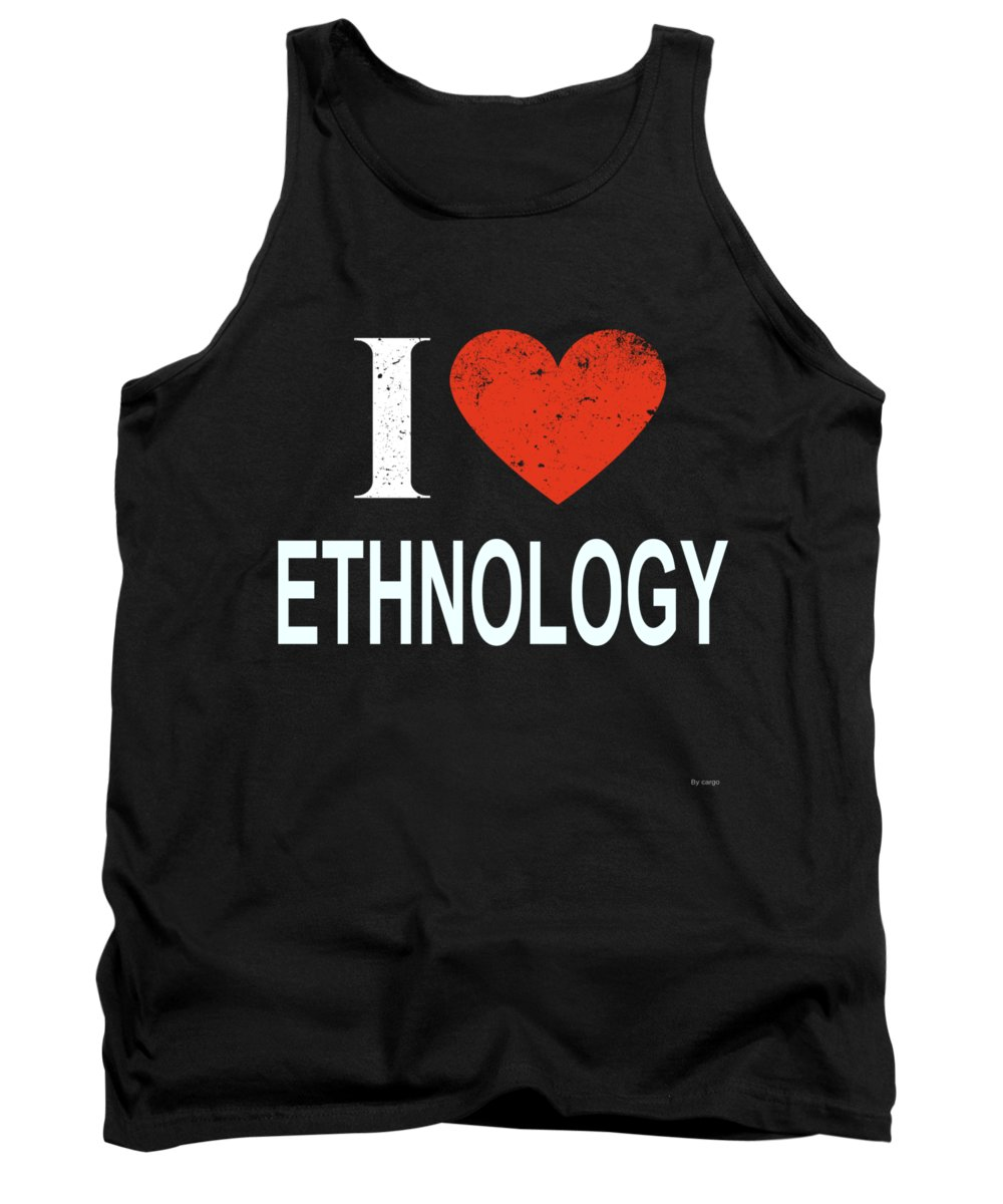 Christmas Tank Top featuring the digital art I Love Ethnology by Jose O