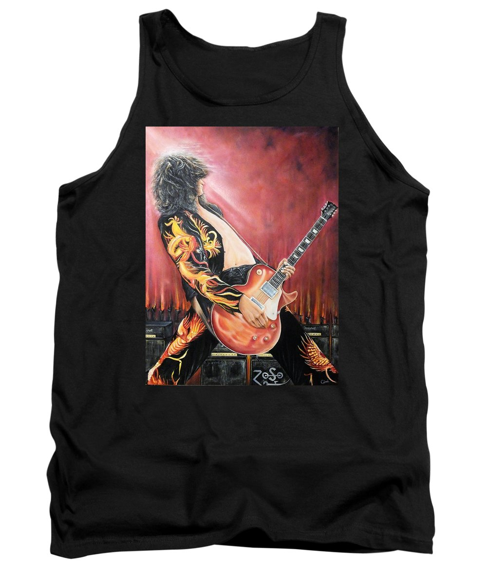 Jimmy Tank Top featuring the painting Jimmy by Lisa Cini