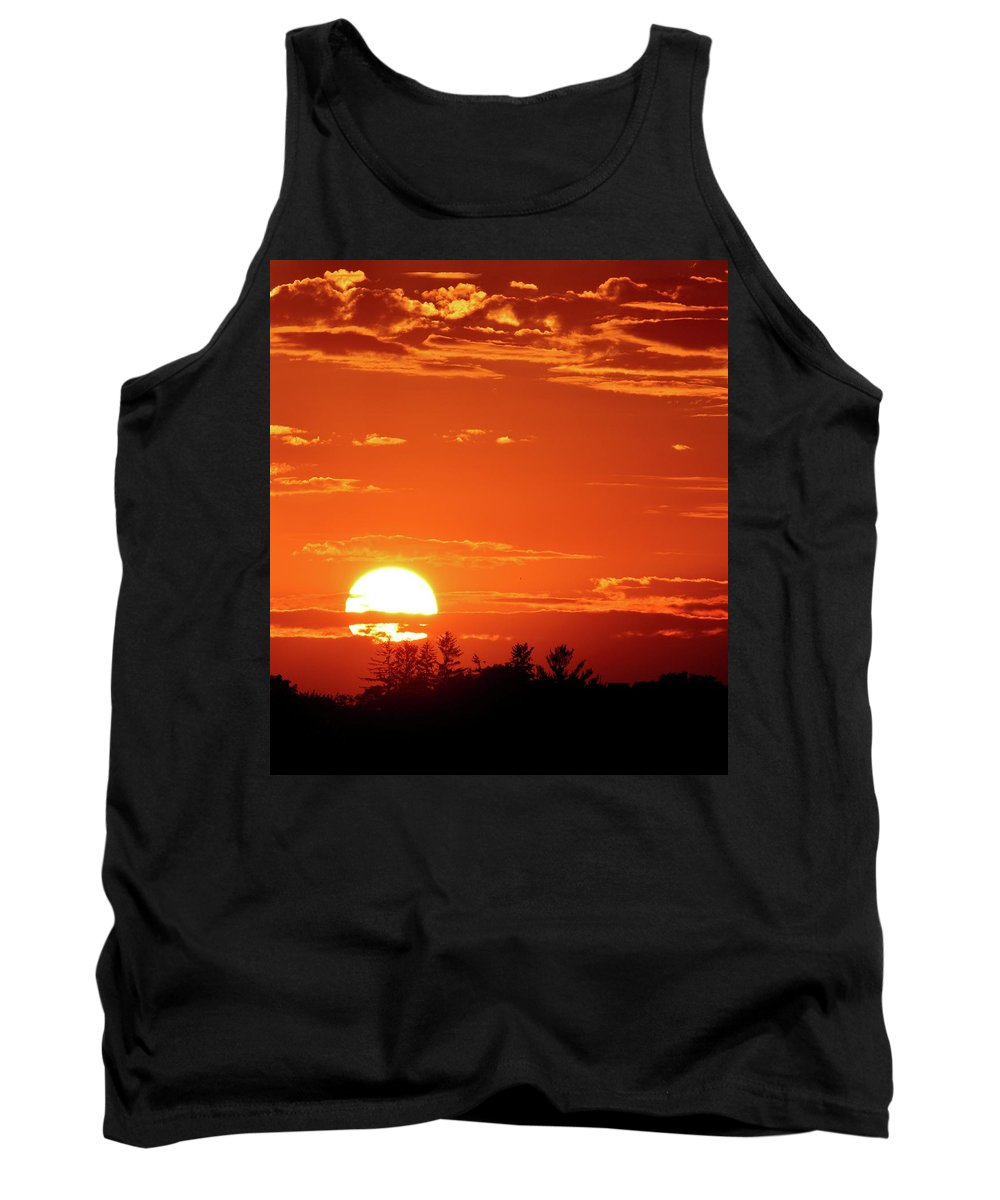 Abstract Tank Top featuring the photograph July 9-2018 Sunset by Lyle Crump