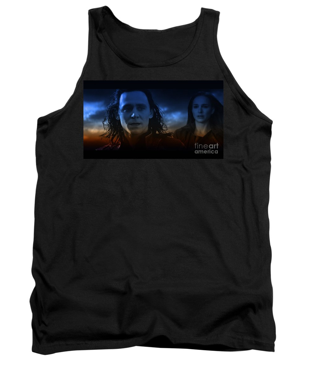 Digital Art Tank Top featuring the digital art Loki And The Dead World by Janice Wymore