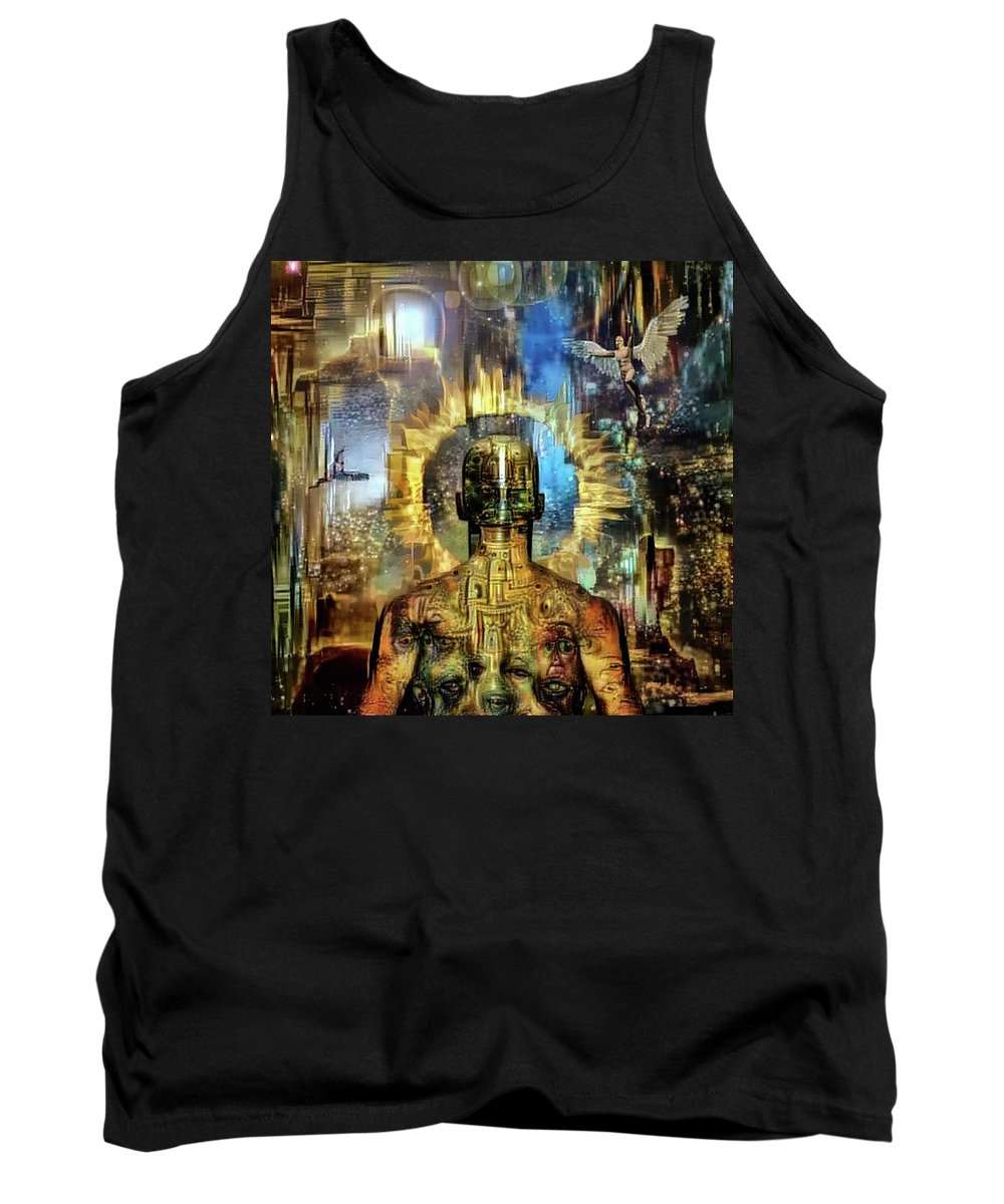 Surreal Tank Top featuring the digital art Looking To Eternity by Bruce Rolff