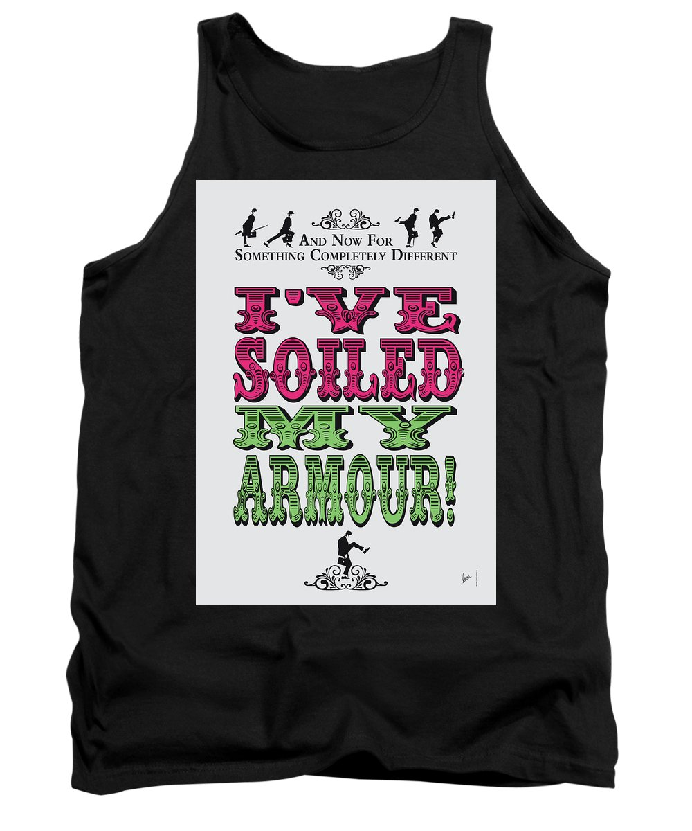 Parrot Tank Top featuring the digital art No03 My Silly Quote Poster by Chungkong Art