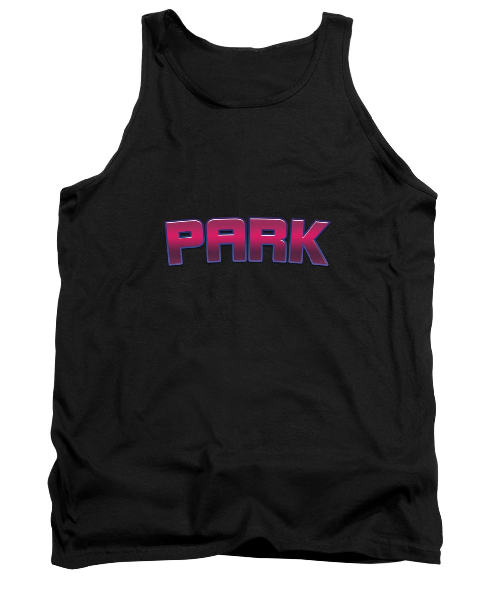Park Tank Top featuring the digital art Park #park by TintoDesigns