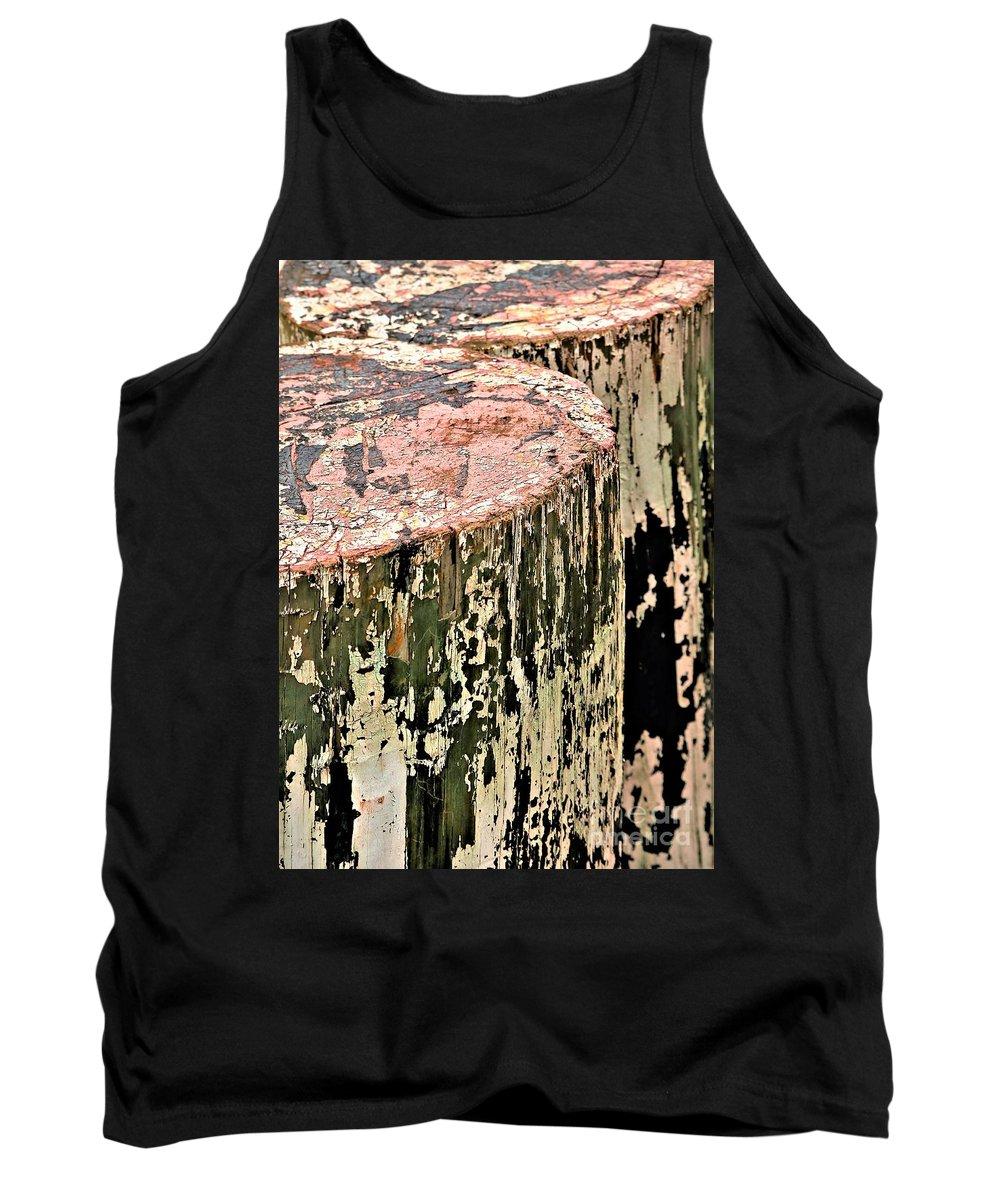 Nautical Tank Top featuring the photograph Pilings In Abstract by Diann Fisher