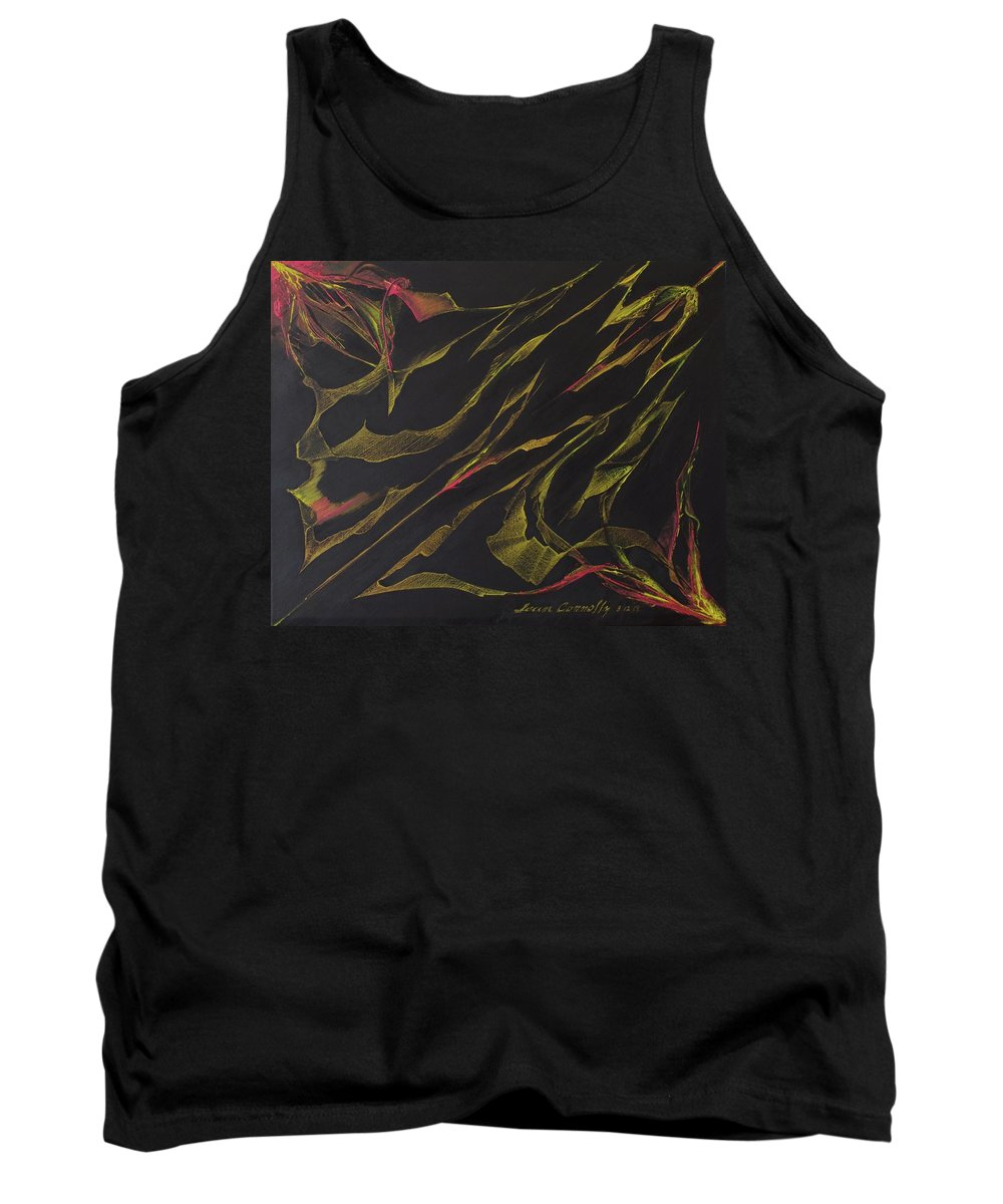 Abstract Oil Painting Tank Top featuring the painting Ribbon Stung by Sean Connolly