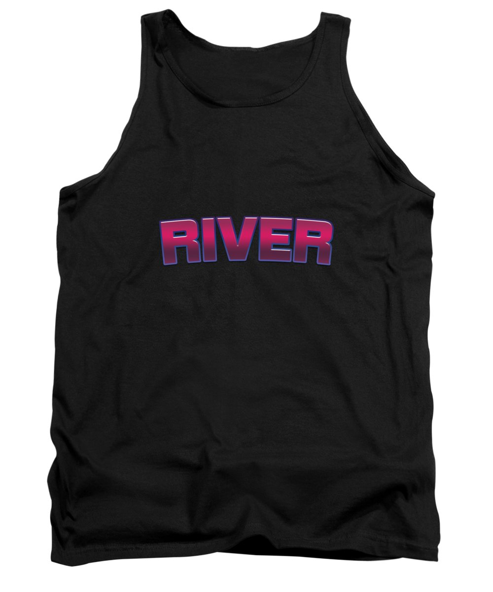 River Tank Top featuring the digital art River #river by TintoDesigns