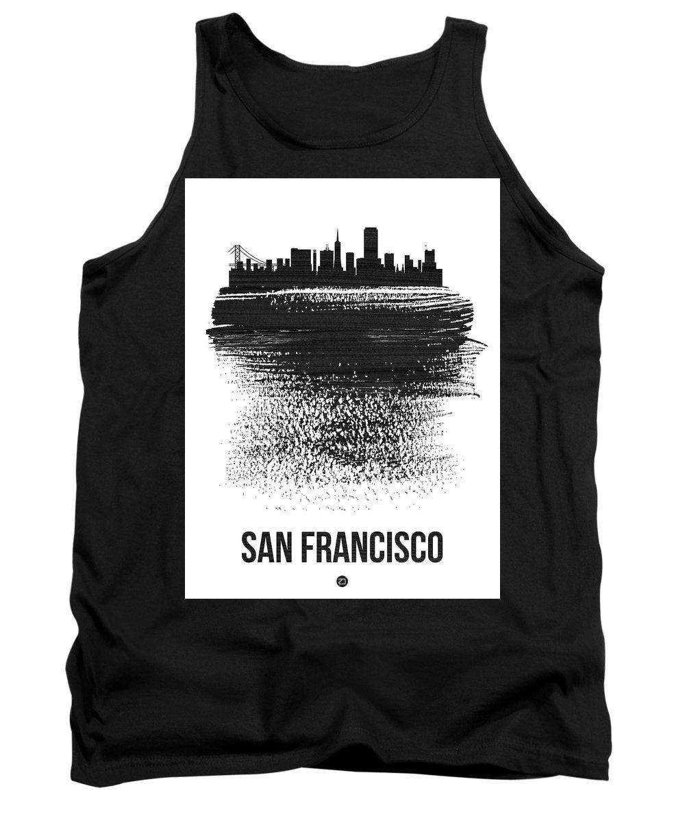 San Francisco Skyline Mixed Media Tank Tops