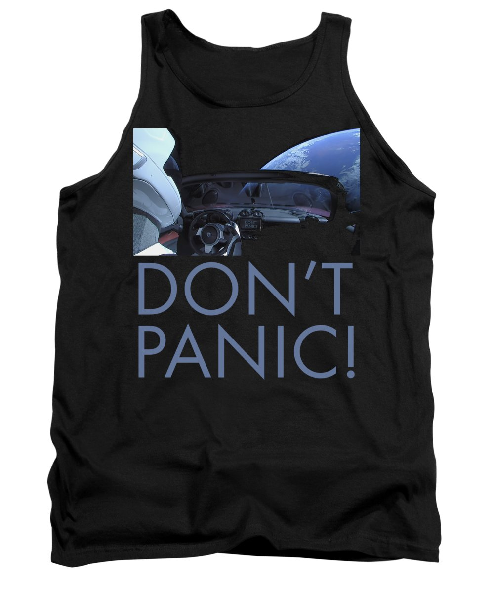 Dont Panic Tank Top featuring the photograph Starman Don't you Panic Now by Filip Schpindel