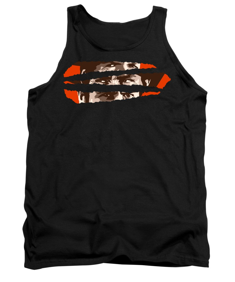 Clint Eastwood Tank Top featuring the digital art The Good The Bad The Ugly by Filip Hellman