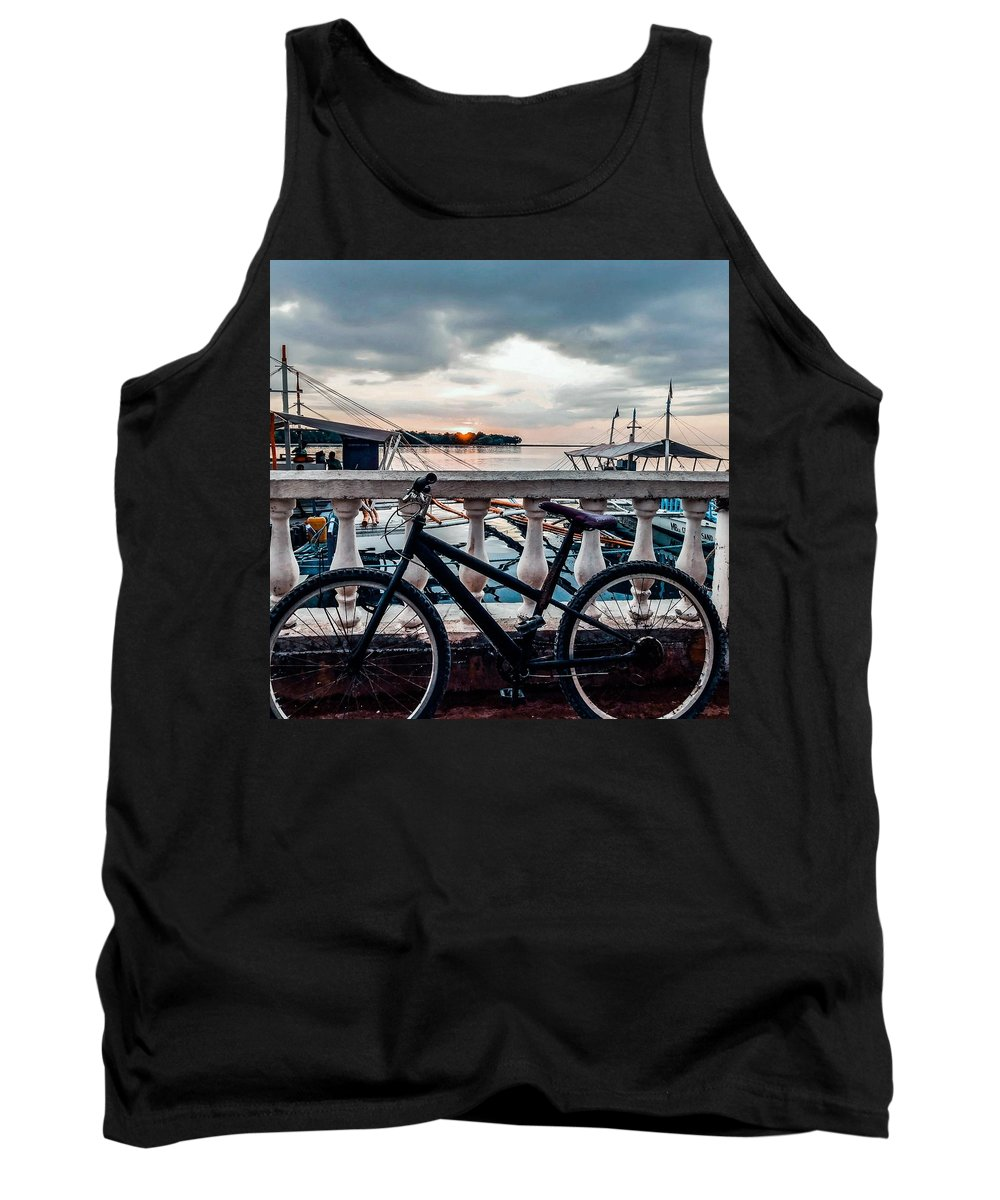 Bike Tank Top featuring the photograph Traveller's point by Dynz Abejero