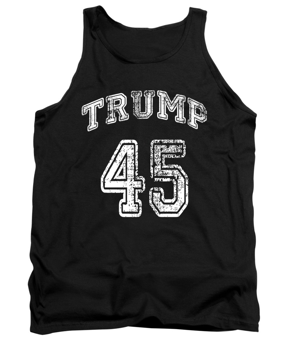 Cool Tank Top featuring the digital art Trump 45 by Flippin Sweet Gear