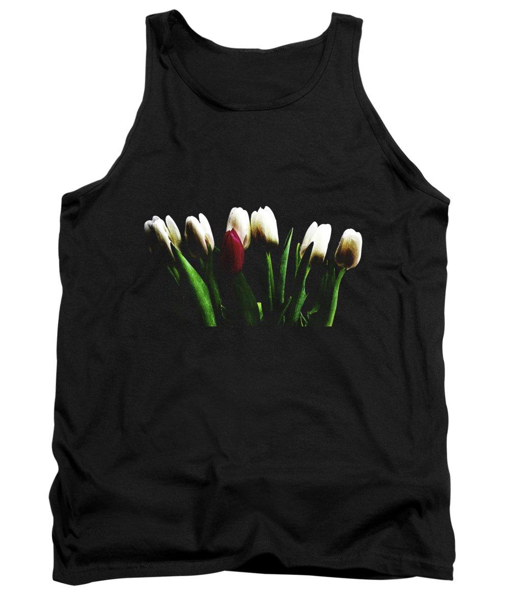 White Flower Photographs Tank Tops