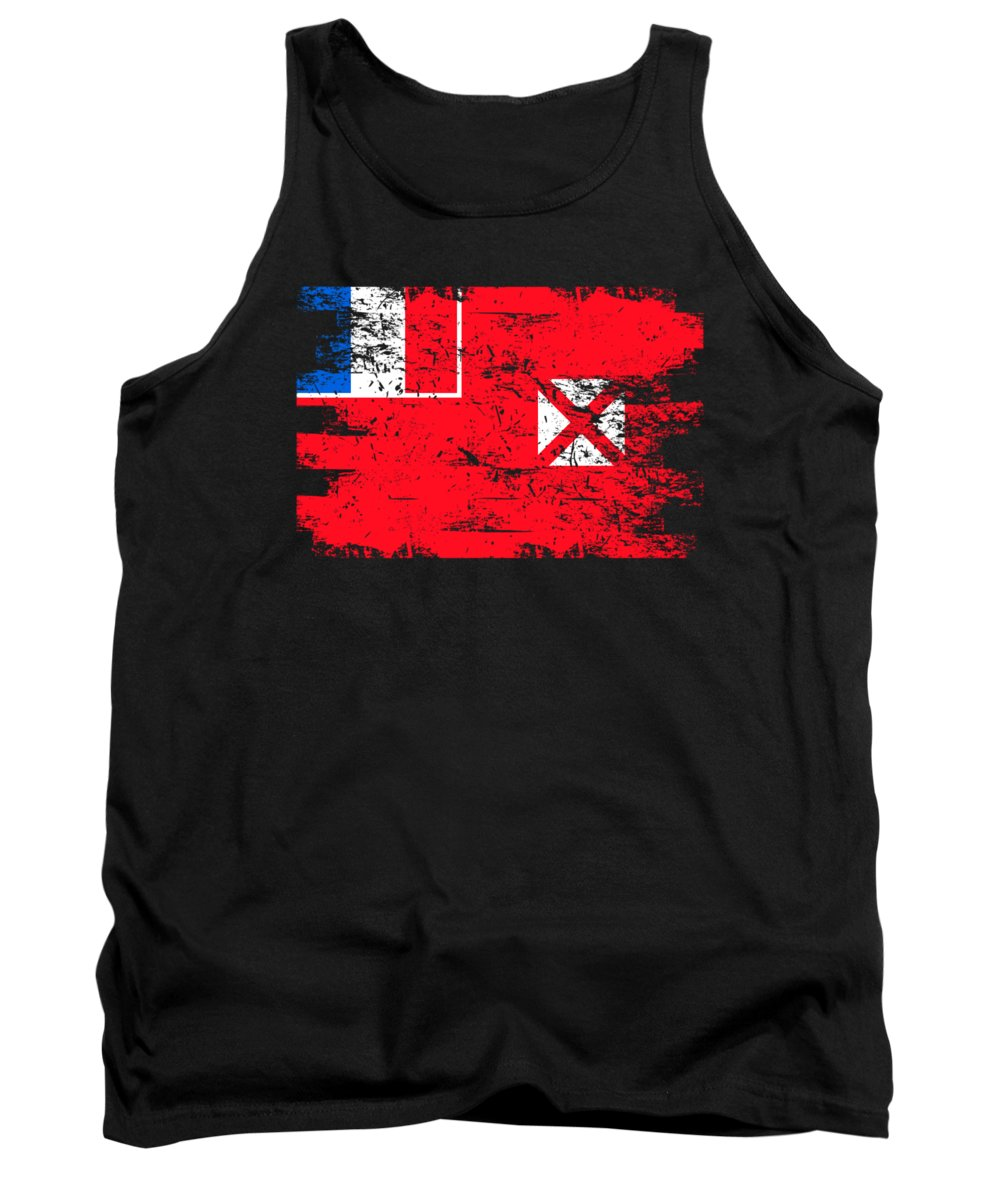 Patriotic Tank Top featuring the digital art Wallis Futuna Shirt Gift Country Flag Patriotic Travel Oceania Light by J P