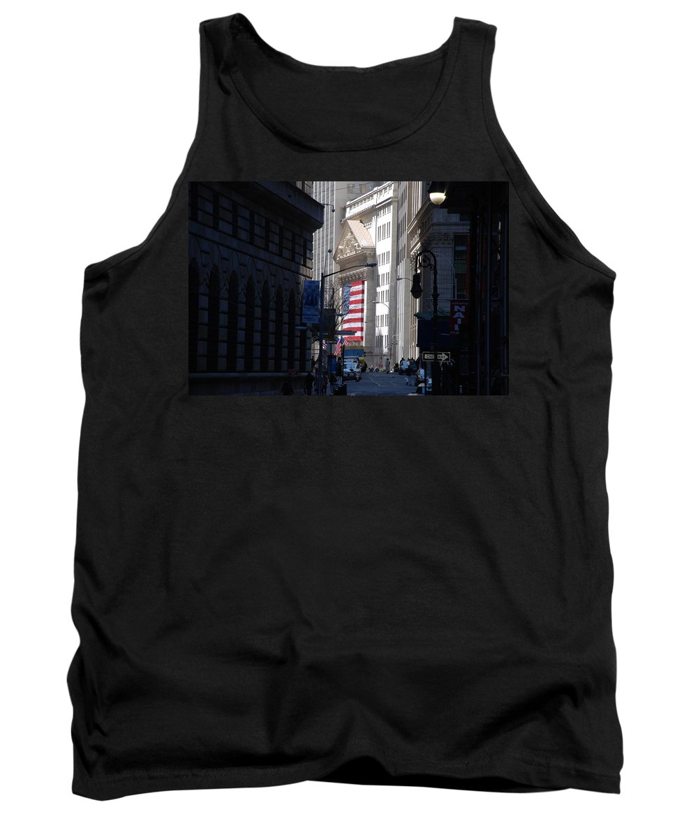 Wall Street Tank Top featuring the photograph Rise And Fall Of America Avenue by Rob Hans