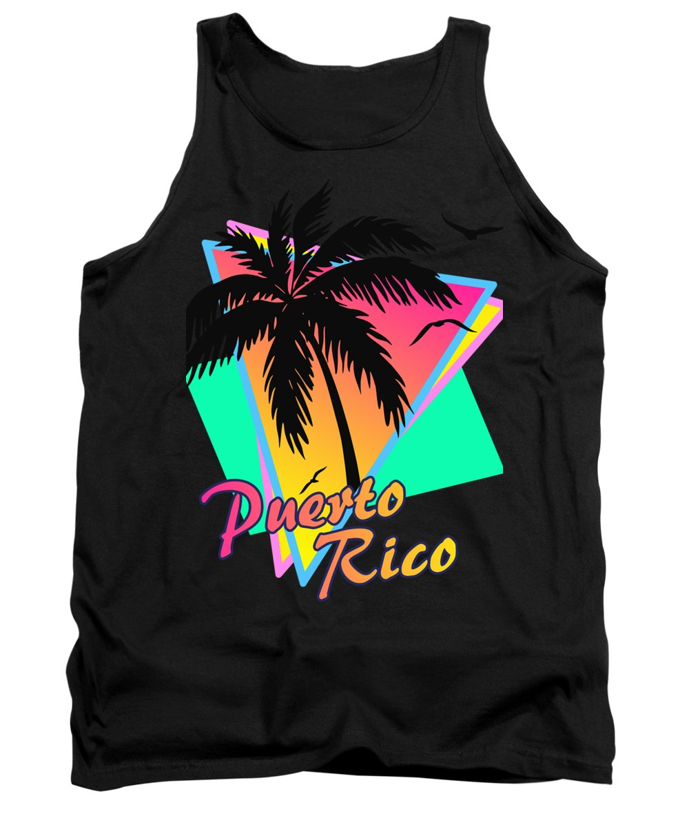 Classic Tank Top featuring the digital art Puerto Rico by Filip Schpindel