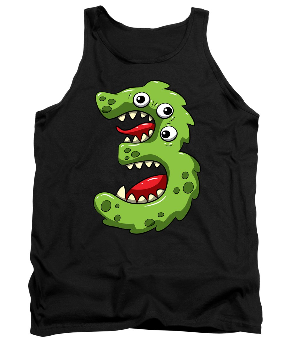 Gift Tank Top featuring the digital art 3 Years Old Birthday 3rd Birthday Little Monster by J M