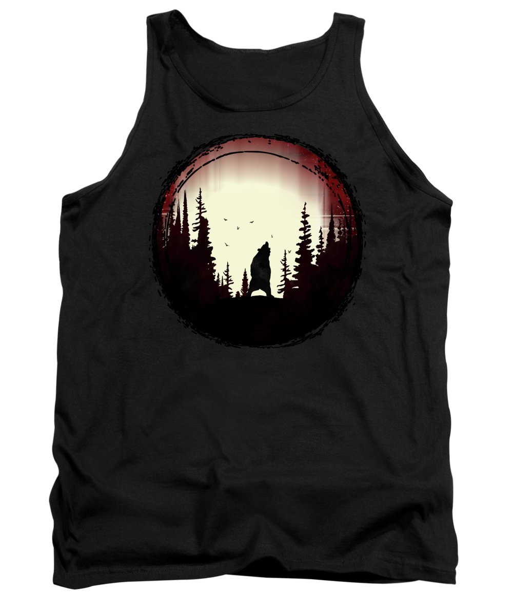Forest Tank Top featuring the digital art Forest Bear by Danilov Ilya