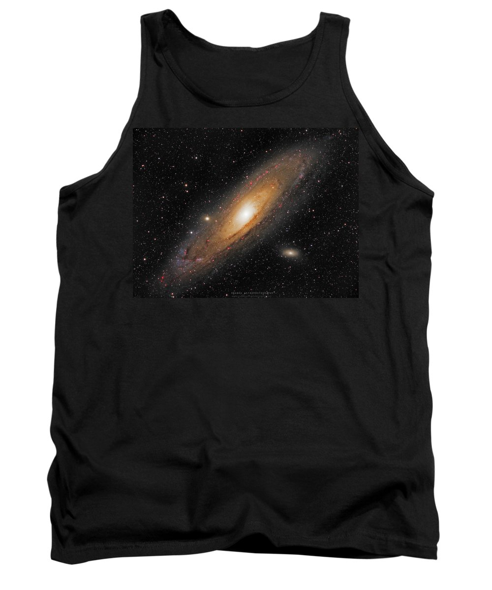 Andromeda Galaxy Tank Top featuring the photograph Andromeda Galaxy by Prabhu Astrophotography