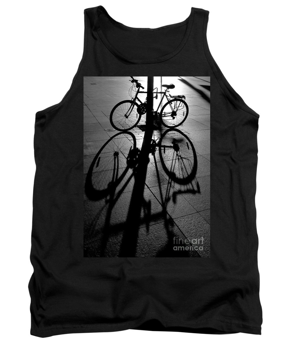 Bicycle Tank Top featuring the photograph Bicycle shadow by Sheila Smart Fine Art Photography
