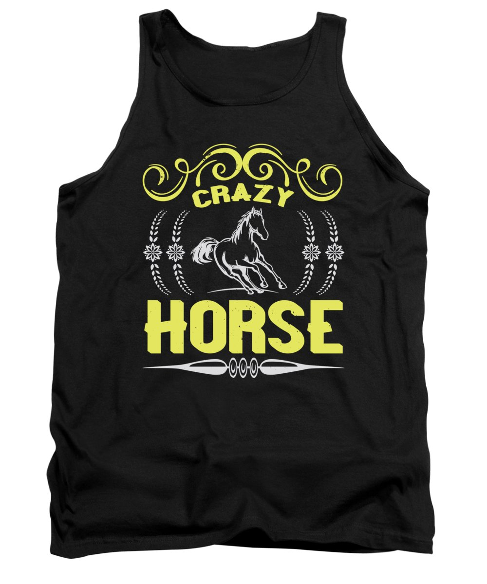 Horse Tank Top featuring the digital art Crazy Horse by Jacob Zelazny